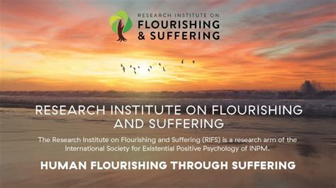 Research Institute on Flourishing and Suffering (RIFS) » International Network on Personal Meaning