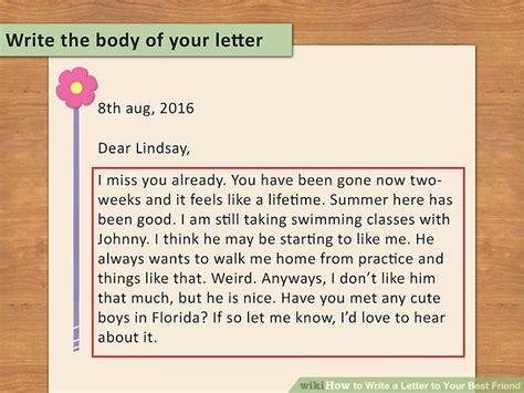 write  letter    friend  steps