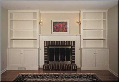 Built In Bookcase Around Fireplace by Built In Bookshelves