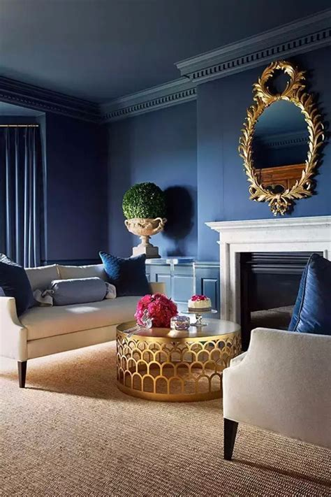 Ideas Navy Blue Walls by Modern Living Room With Navy Blue Walls Living Room Ideas