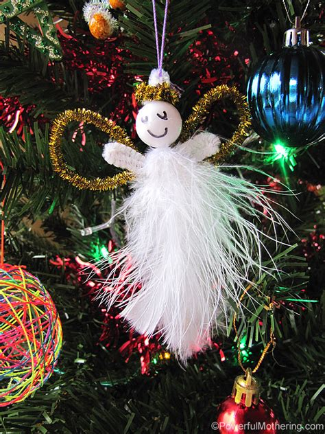 kid  feather pipe cleaner angels easy christmas