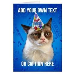 cat card grumpy cat customizeable happy birthday card zazzle