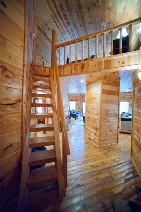 images  cabin stairs  pinterest log cabin