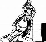 Barrel Racing Racer Clipart Clip Horse Race Rodeo Decal Cut Silhouette Vinyl Caballos Events Coloring Vector Barrels Drawing Google Horses sketch template