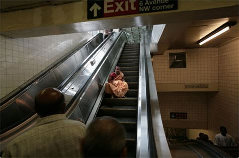 bumpy start  green subway escalators   york times