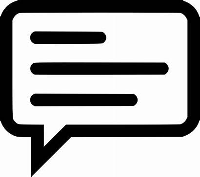 Icon Message Whatsapp Sms Chat Memo Svg