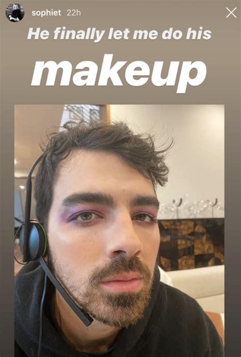 Sophie Turner Did Joe Jonas's Makeup and He Looks So ...