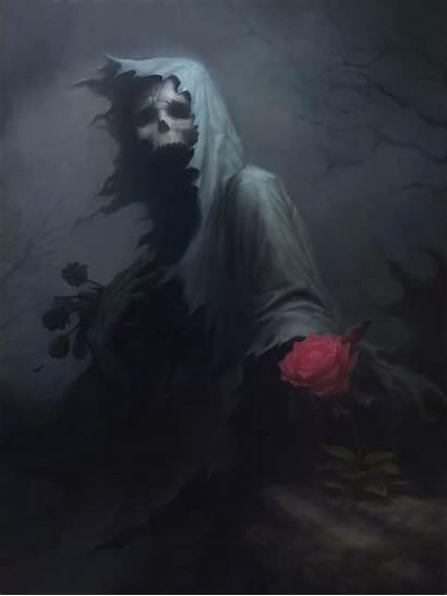 Death Dark Skull Fantasy Drawing Rose Wallpapers