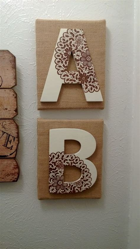 decorating  burlap  lace decorating ideas canvas burlap  cardboard letters