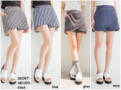 r 580 stripe skirt rok garis jual skort skirt rok celana pendek garis stripe