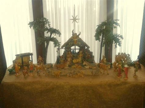 decor fontanini nativity display the enchanted manor