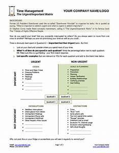 Urgent Important Matrix Template and Worksheet | Coaching ...