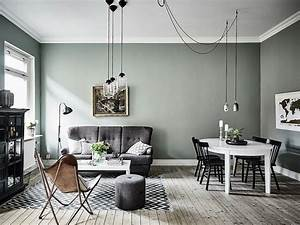murs vert de gris mur vert vert de gris et le decor With quelle couleur associer au gris perle 13 peinture salon 25 couleurs tendance pour repeindre le salon