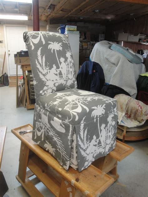 slipcovered  rolled  parsons chair   lovely