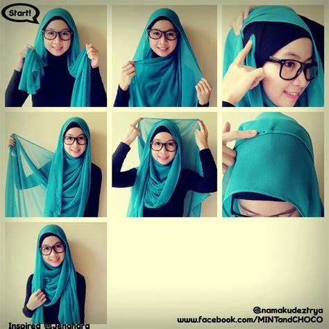 kreasi jilbab pashmina tutorial hijab
