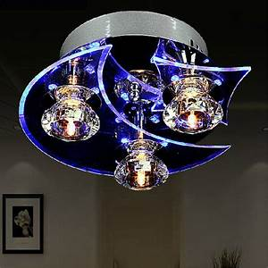 Retro dining room crystal chandelier ceiling led light