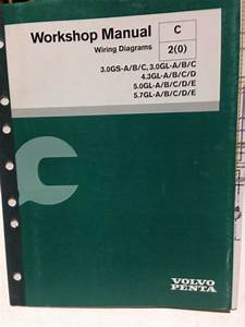 Volvo Penta Workshop Manual Wiring Diagrams P  N 7743606