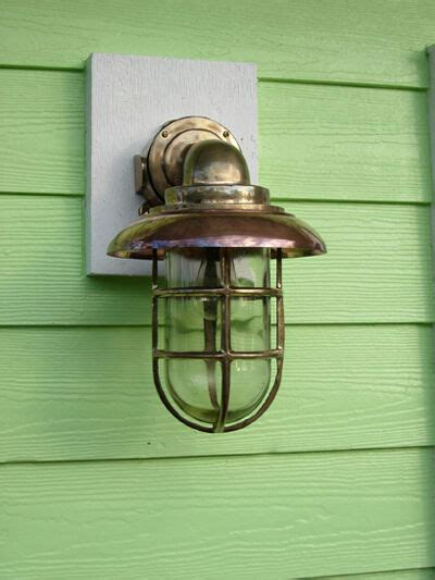 large nautical 90 degree passageway dock light w copper hood nautical light ebay