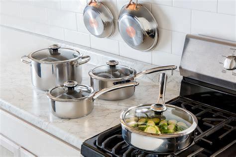 cookware kitchen sets revere copper graduates newlyweds core piece epicurious pots courtesy pans