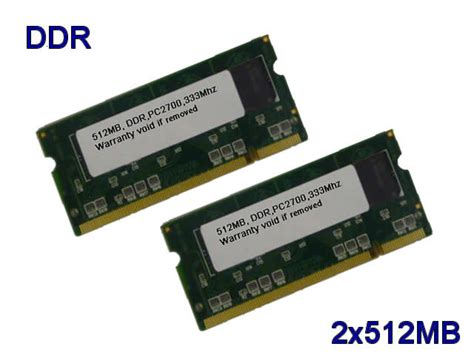Sodimm 1gb 2 X 512mb Pc2700 Ddr 333 200p Laptop Memory