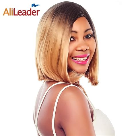 Alileader Kanekalon Short Bob Synthetic Wigs 14 Inches