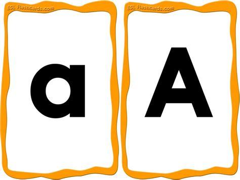 printable upper   case alphabet flash cards