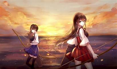 Kancolle Akagi Kantai Kaga Anime Desktop