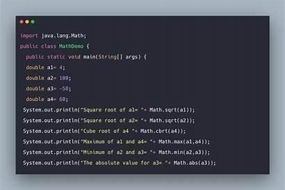 Java Math Class Example Tutorial React