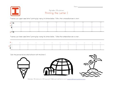 letter i worksheet for preschool worksheets for all