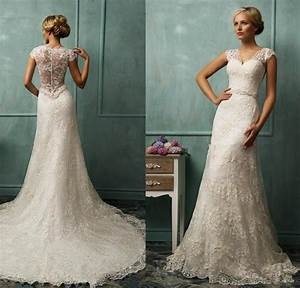 2015 vintage wedding dress ivory mermaid bridal gowns with for Wedding dresses websites