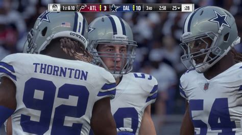 madden nfl  broadcast view gameplay falcons  cowboys