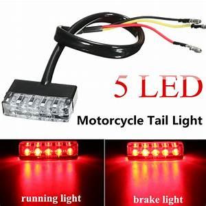 12v 5 Led Rear Tail Running Stop Brake Light Red Lamp