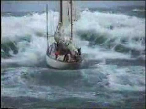 Catamaran Ferry In Rough Seas by Stormy Weather Sailboat In Distress At Sea Youtube