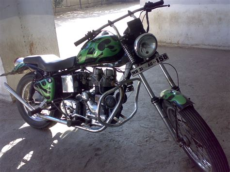 Modified Bikes Tyres by Bikers World Modified Royal Enfield 350 Into Westcoast