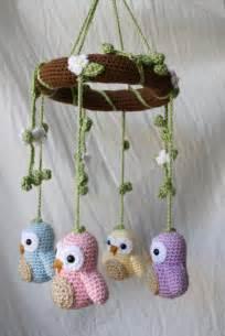Crochet Owl Mobile Pattern
