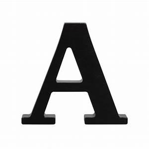Wooden letter a black for Large black wooden letters