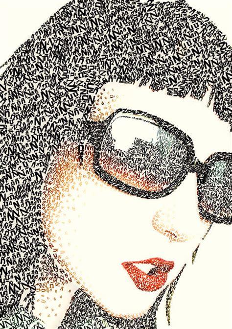25 beautiful exles of typography portraits creative nerds
