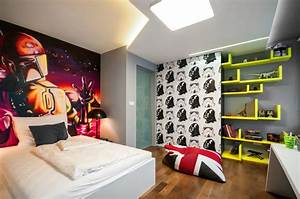 Gaming Zimmer Deko : cool boys room paint ideas for colorful and brilliant interiors ~ Markanthonyermac.com Haus und Dekorationen