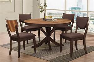 Turner round dining table 4 side chairs for Round dining table for 4