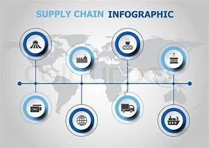 Infographic Design With Supply Chain Icons  Stock Vector