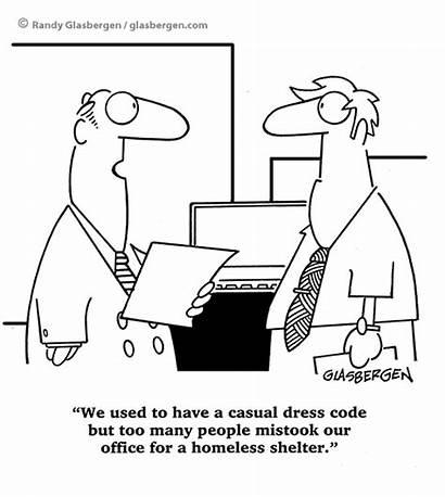 Casual Clipart Success Computer Attire Glasbergen Cartoon