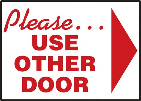 use other door safety signs safety tags and safety labels by accuform signs