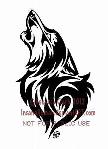 Tribal Wolf Tattoo : howling wolf tribal by insaneroman on deviantart ~ Frokenaadalensverden.com Haus und Dekorationen