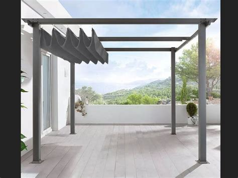 freestanding pergola  retractable canopy