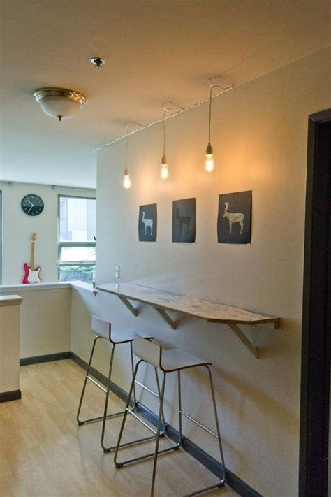 kitchen bar table against wall 25 best ideas about wall bar on wine rack