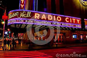 Radio City Music Hall Neon Sign Editorial Image Image