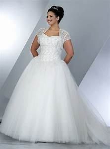 Plus size wedding ball gowns with short sleeve shrug jacket for Plus size short wedding dresses with sleeves