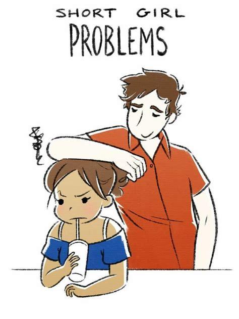 artist illustrates tall short girl problems