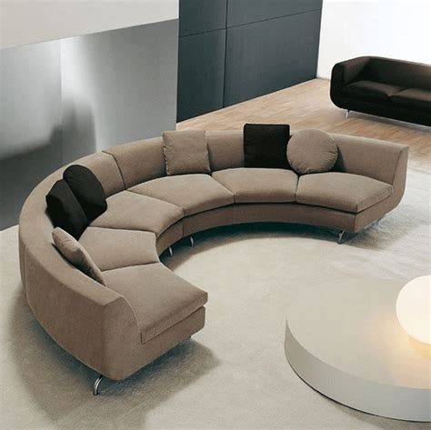 contemporary curved sectional sofa small round sectional sofa half round curved modern brown