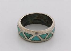 ring men39s stsilver wedding band w inlaid turquoise With mens silver and turquoise wedding rings